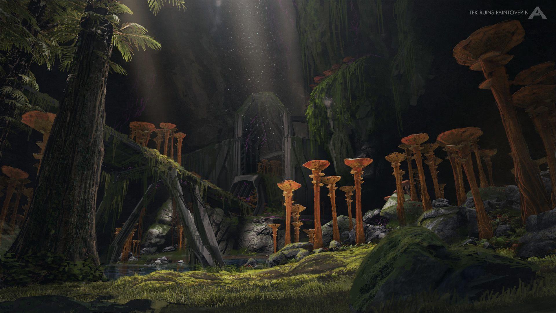 Artstation Tek Ruins In Ark Aberration Jesus Conde Ark Survival Evolved Ark Conde