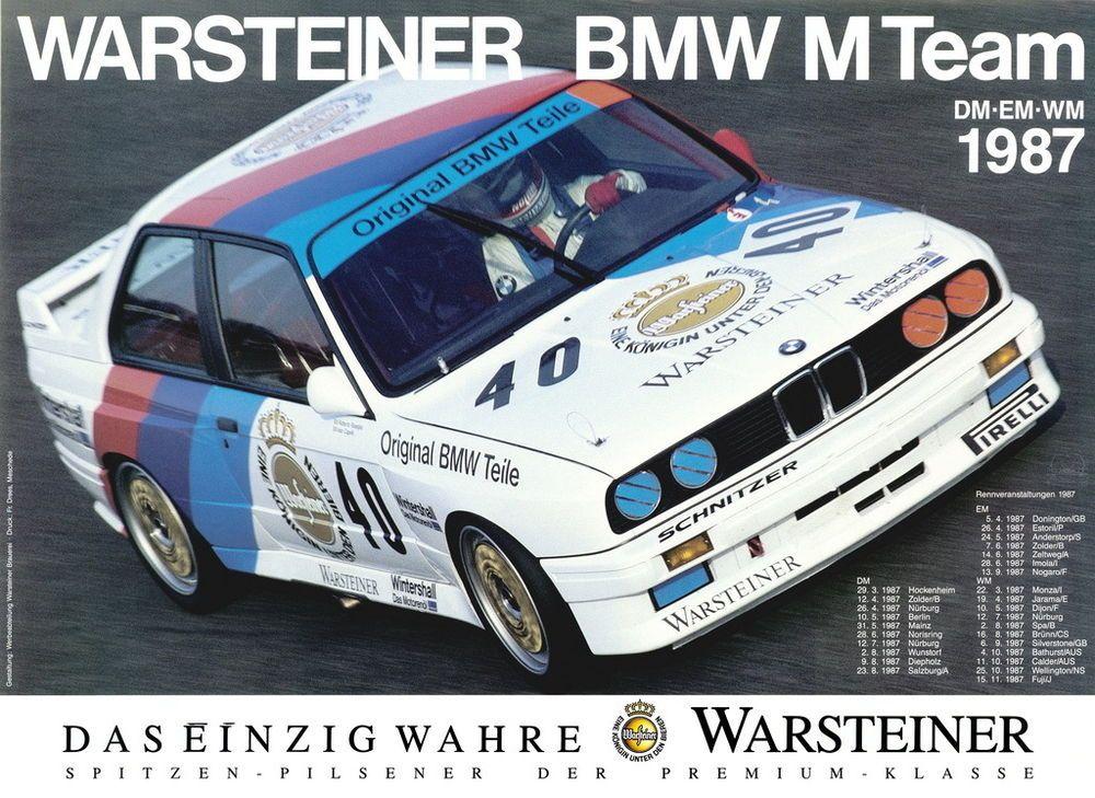 BMW M3 - e30 Warsteiner Team - DTM Motorsport artwork