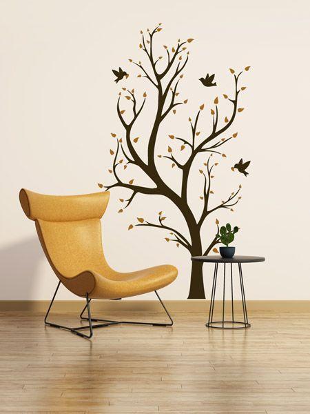 Baum - Bunte Ideen für die Wand | Wandtattoo Bäume | Tipps und Ideen ...