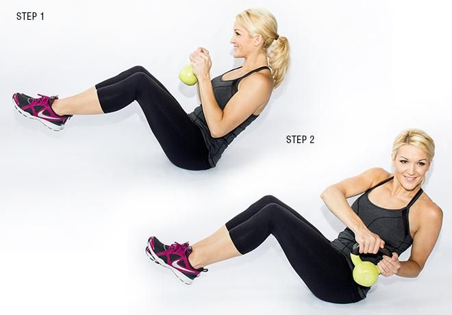 9 Moves To Shrink Your Muffin Top | Skinny mom, Kettlebell workout ...