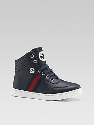 2470419fb13 Gucci Boy s Coda High-Top Sneakers. These are CUTE and a half!! lol for my  nephew!!