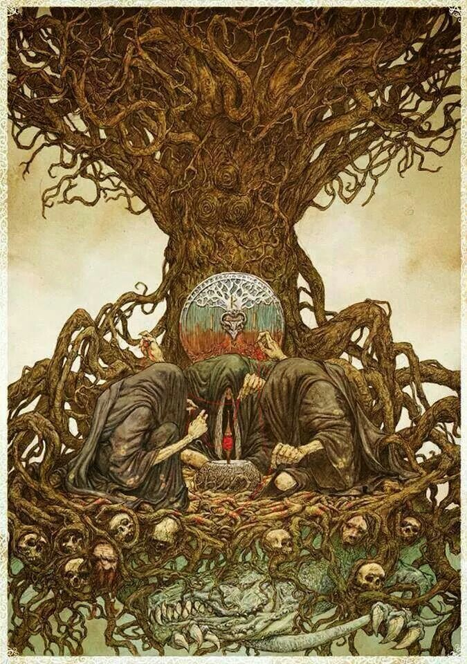 Yggdrasil with Norns   Yggdrasil: That Ash! in 2019 ...