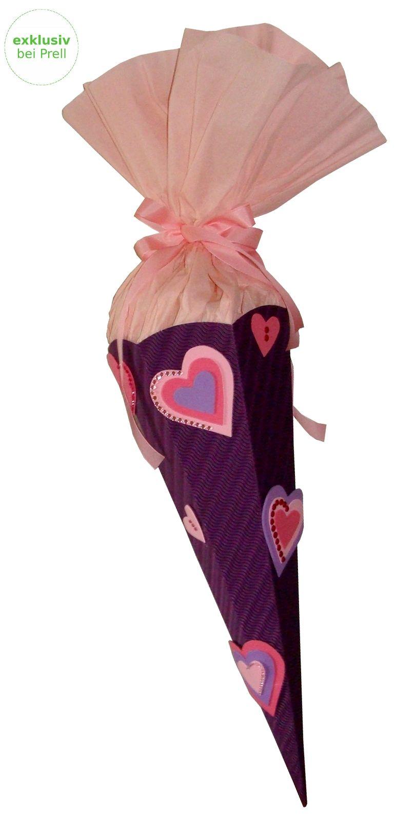 Mädchen Schultüte Herz lila-rosa inkl. Schulstarterpaket finden Sie unter http://www.prell-versand.de/Basteltechniken/Bastelmaterial/Schultueten/Schultueten-nur-bei-Prell/Schultuete-Bastelset-Herz-inkl--Schulstarterpaket-GRATIS.html