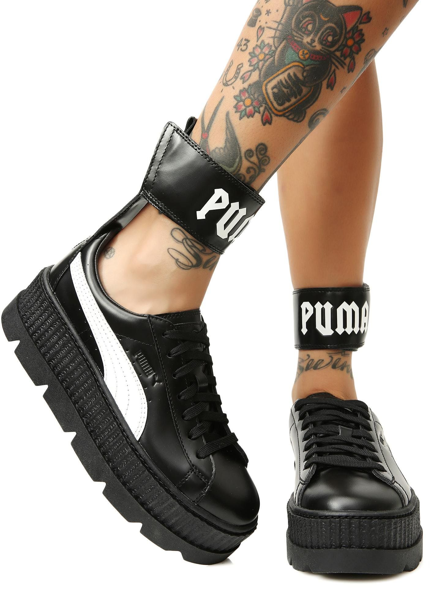 e34055700623 PUMA Midnight FENTY PUMA by Rihanna Ankle Strap Sneakers will keep you  lookin dope af ... Womens shoes ...