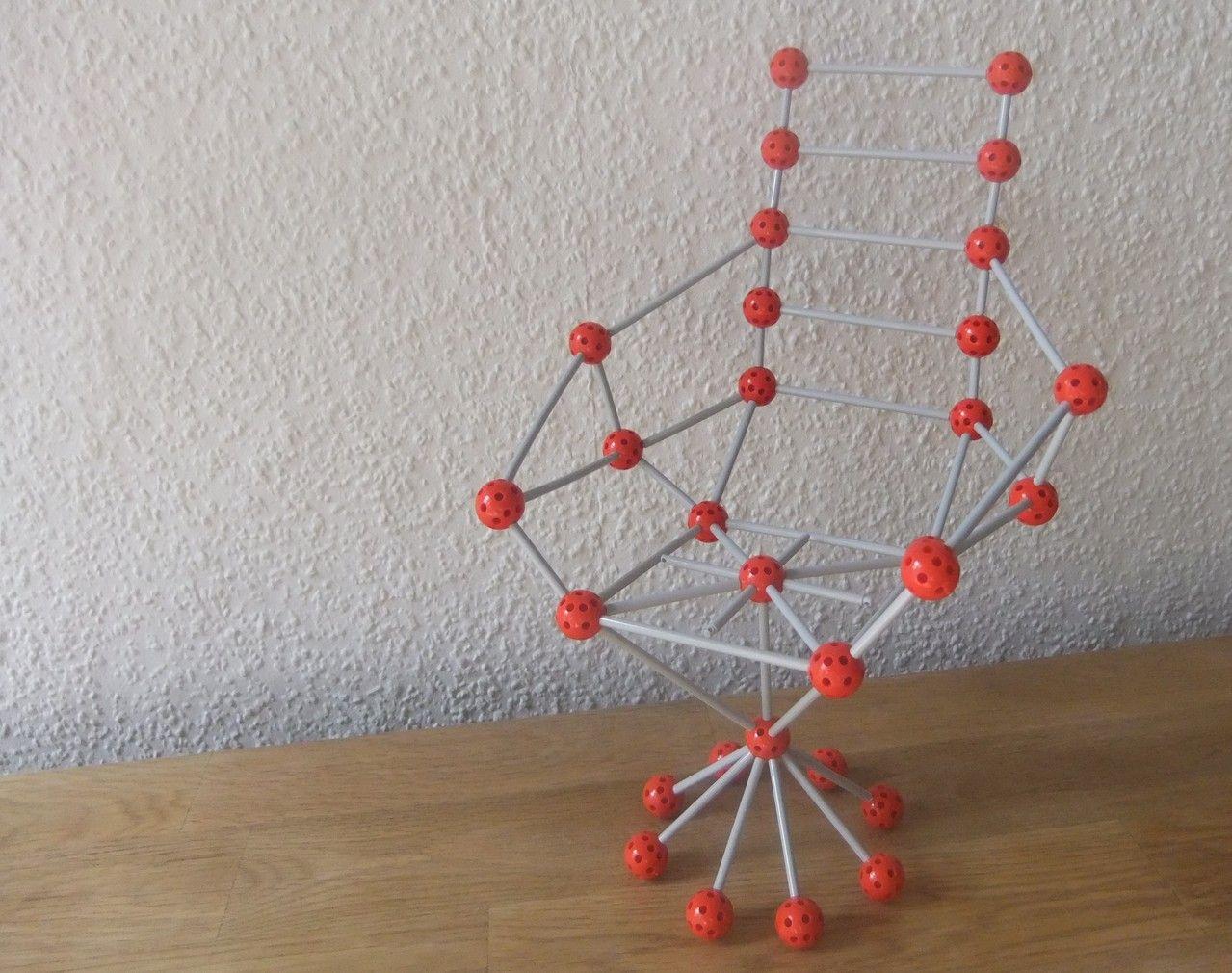Mit SPIELGABEN geometrische Körper bauen | Stäbchen, Kugeln und Sessel