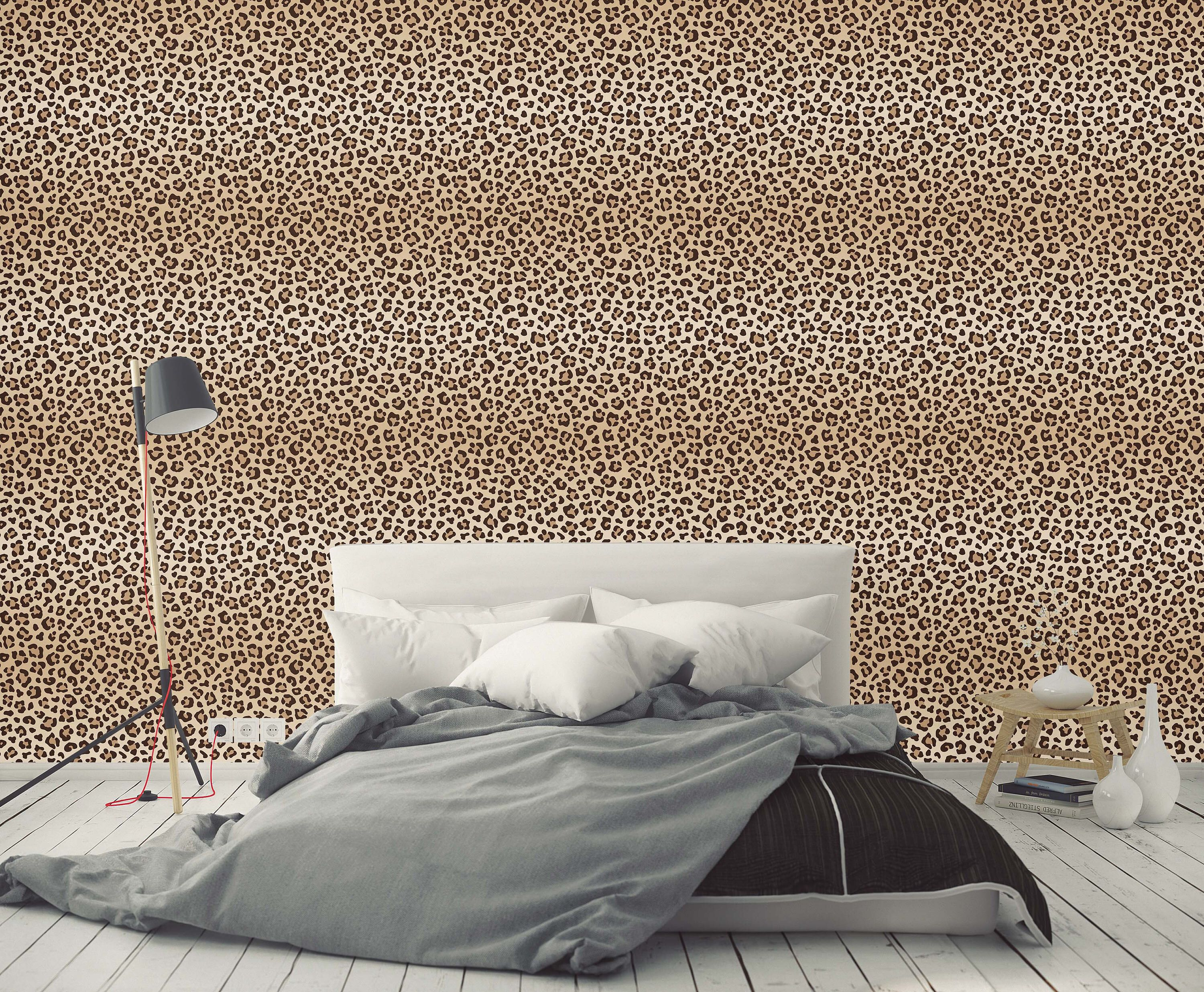 Leopard Print Spots Removable Wallpaper Self Adhesive Wall Paper Vinyl With Animal Pattern Peel And Stick Application Cc151 Removable Wallpaper Vinyl Paper Wall Coverings