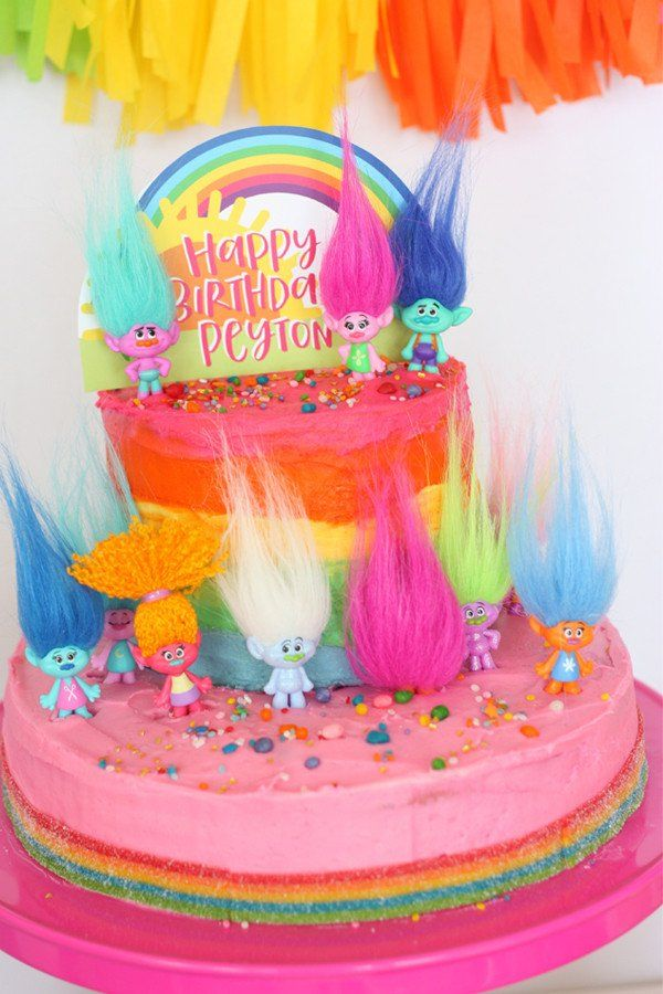 Trolls Printable Birthday Party Collection Event Planning - The biggest birthday cake