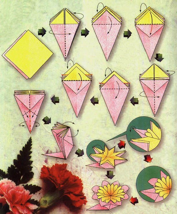 Image result for origami flower diagrams projects to try image result for origami flower diagrams mightylinksfo Images