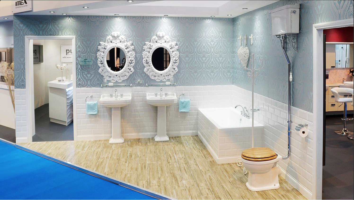 This beautiful display was shown in the kbb exhibition back in March. Inspired by a bygone era of the Edwardians or late Victorians, the Wyndham range has all the style and elegance you'd expect, but with the precision engineering of the 21st century. This classic bathroom style will fit seamlessly into a modern or traditional bathroom setting #trulyinspirational #design #deuco #deuco #imex #pura #flova #puracast