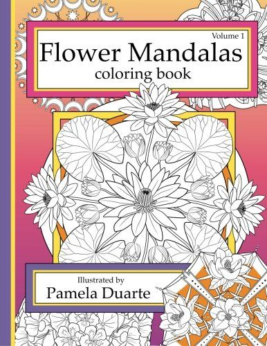 Amazon Flower Patterns Coloring Book Volume1 9781508837435 Pamela Duarte
