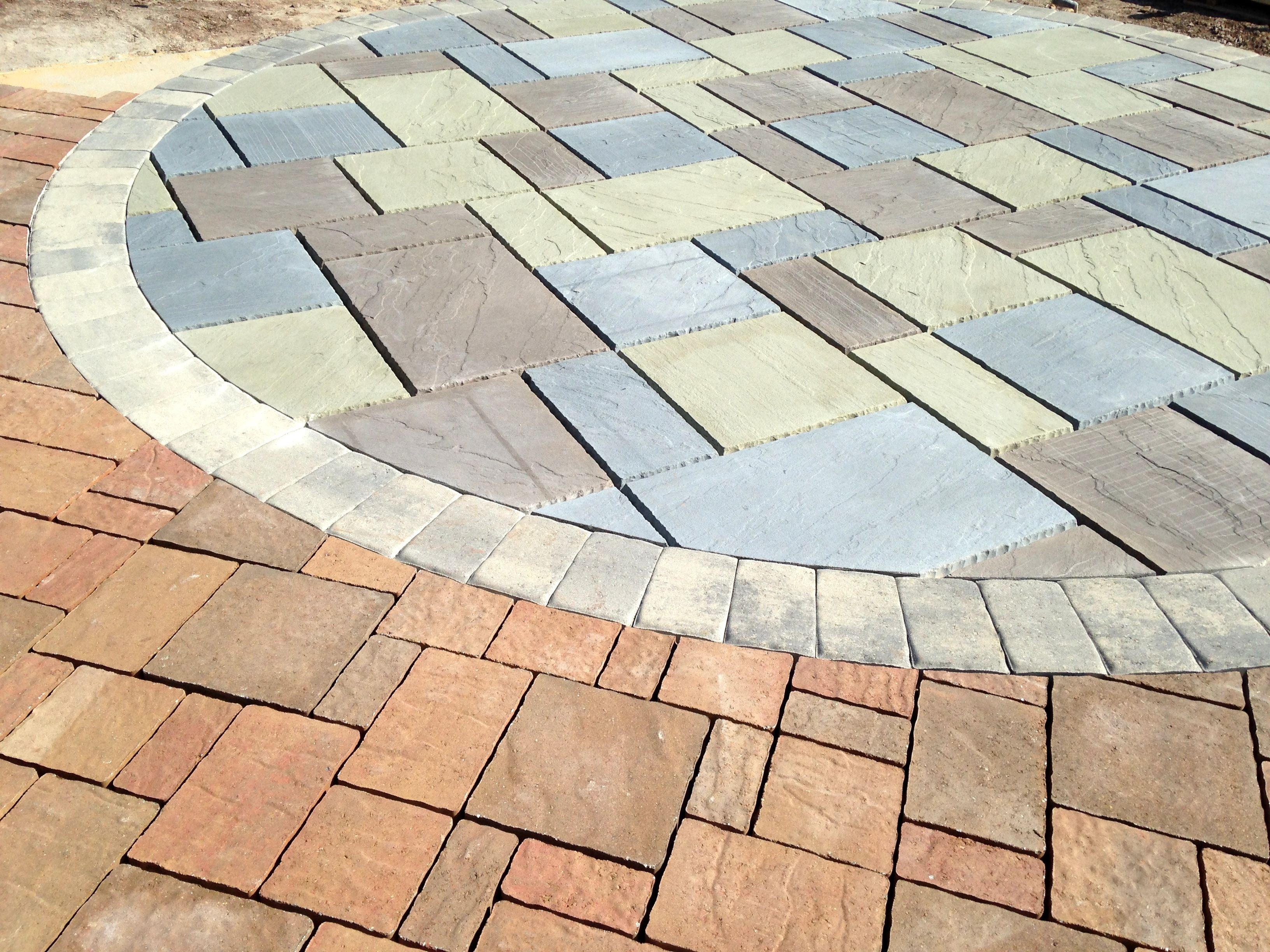 Circular Patio With Transition Area, Hardscaping By Premier Patios U0026 Walks # Patio #hardscape