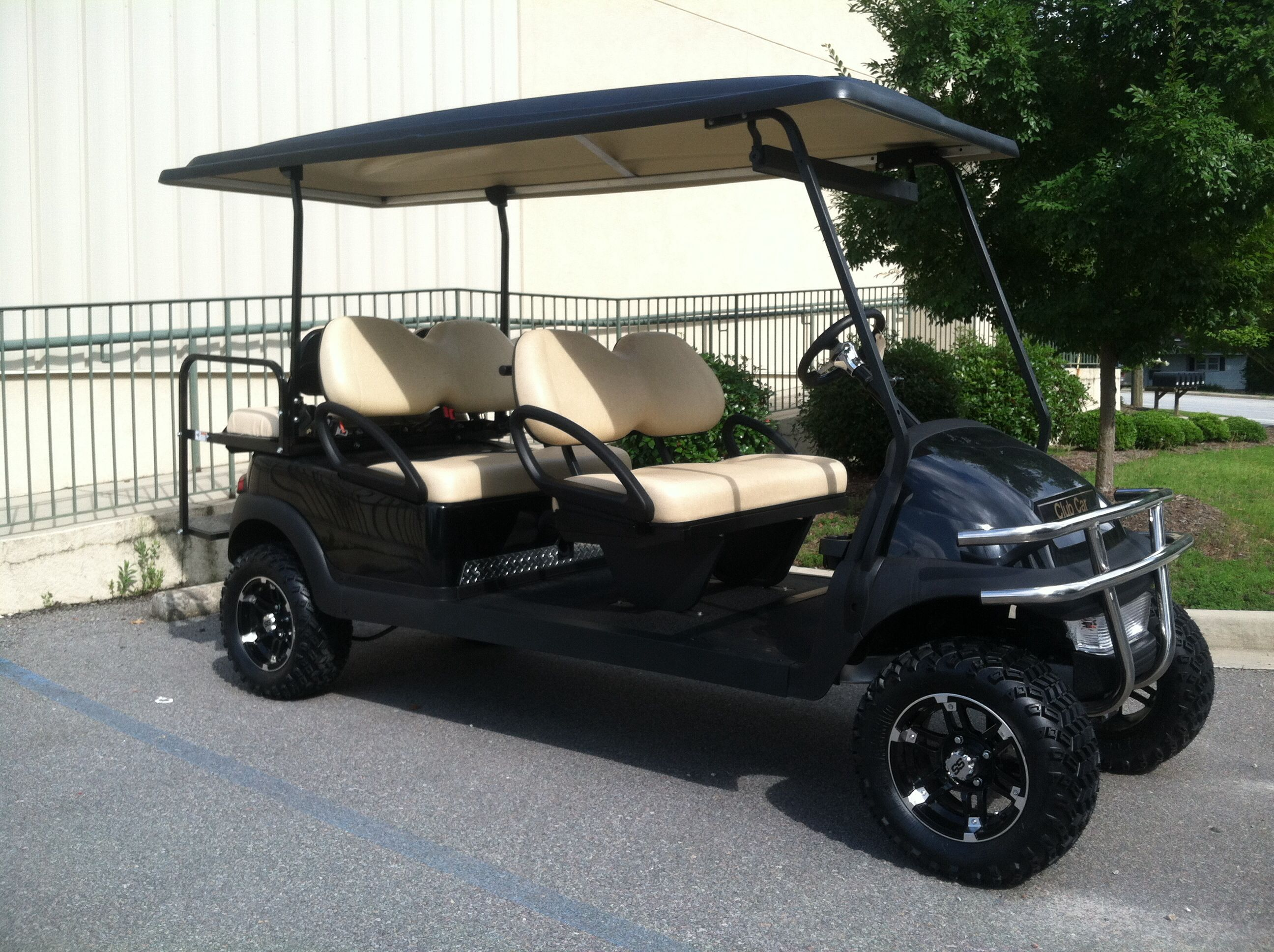 Blacked Out Lifted Limo Golf Carts For Sale At Http Www Kingofcarts Net Golf Carts Golf Trolley Golf Carts For Sale