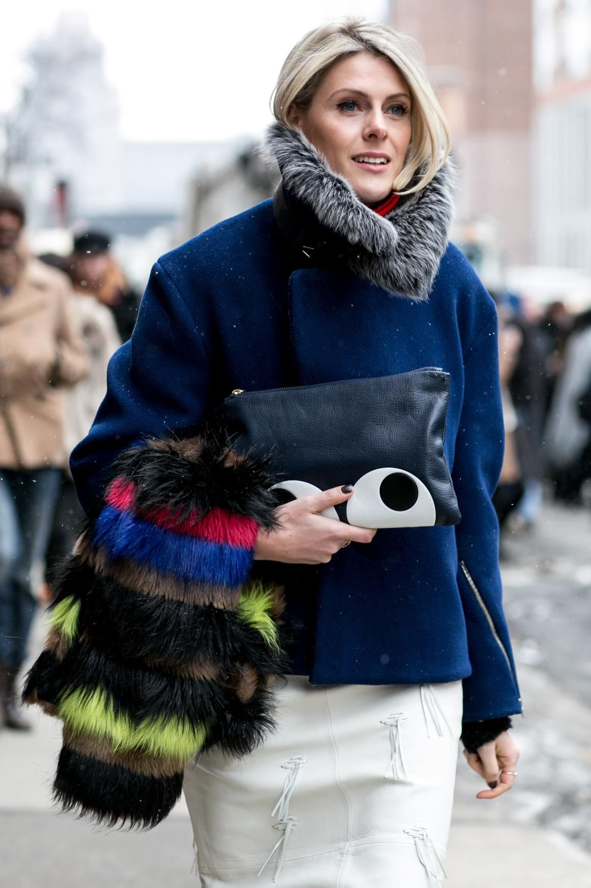 """How to Actually Master """"The Hair Tuck"""" with 4 Easy Styling Tips & Tricks - You know, that thing where the hair is casually tucked into a turtleneck sweater, oversized scarf, or coat? It's a major Fall 2015 trend—here's how to ace it."""