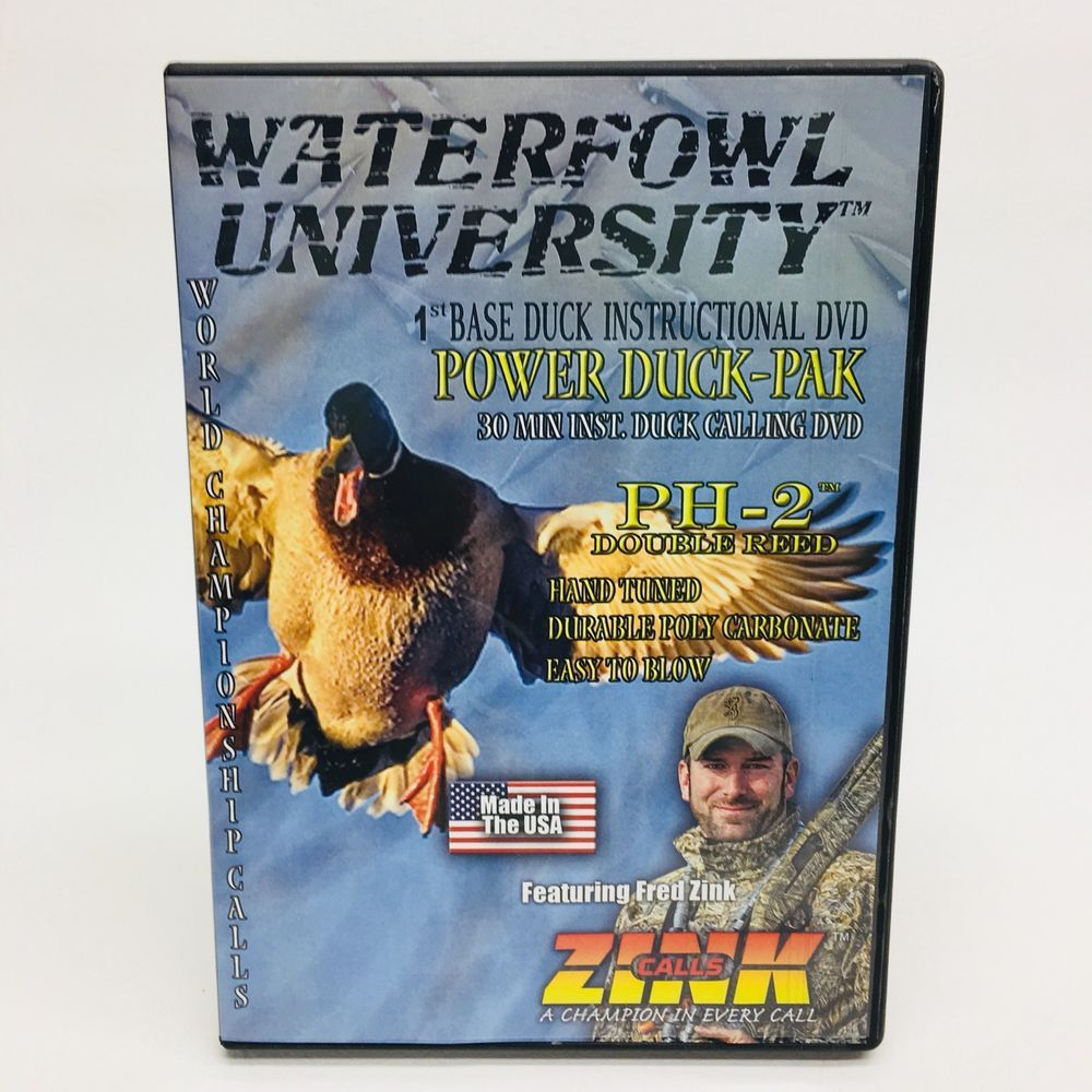 ZINK PH2 DUCK CALL & INSTRUCTIONAL DVD DOUBLE REED DUCK