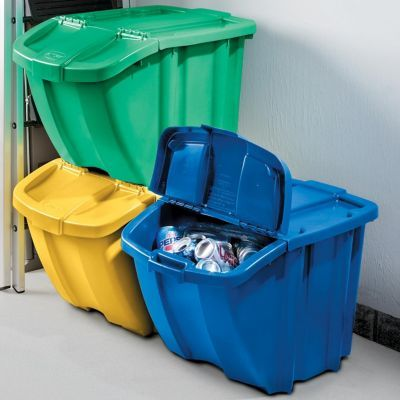 Stackable Recycling Bins Set Of 3