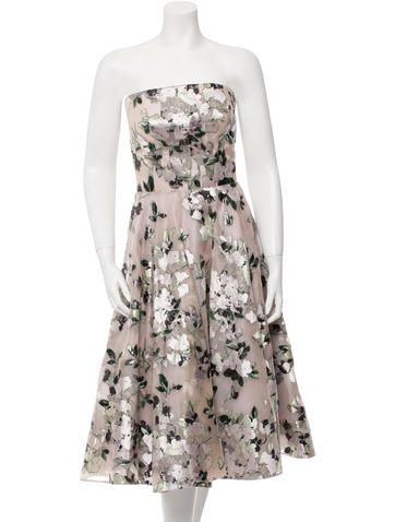 Alexander McQueen Silk Floral Embroidered Dress w/ Tags