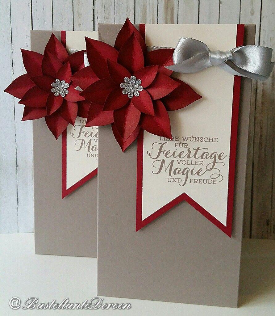 gro e verpackung mit weihnachtsstern bl ten stampin und. Black Bedroom Furniture Sets. Home Design Ideas