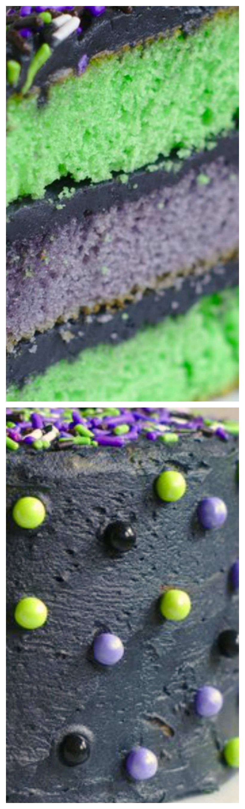 Halloween monster mash cake recipe with images
