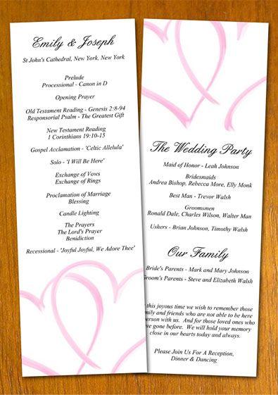 Free wedding program templates free wedding program template example wedding pinterest for Free wedding program