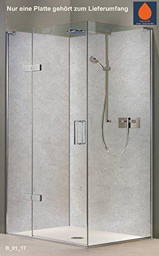 original plateart rckwand dusche alu ohne fugen eck dus 190 - Ruckwand Dusche Bild