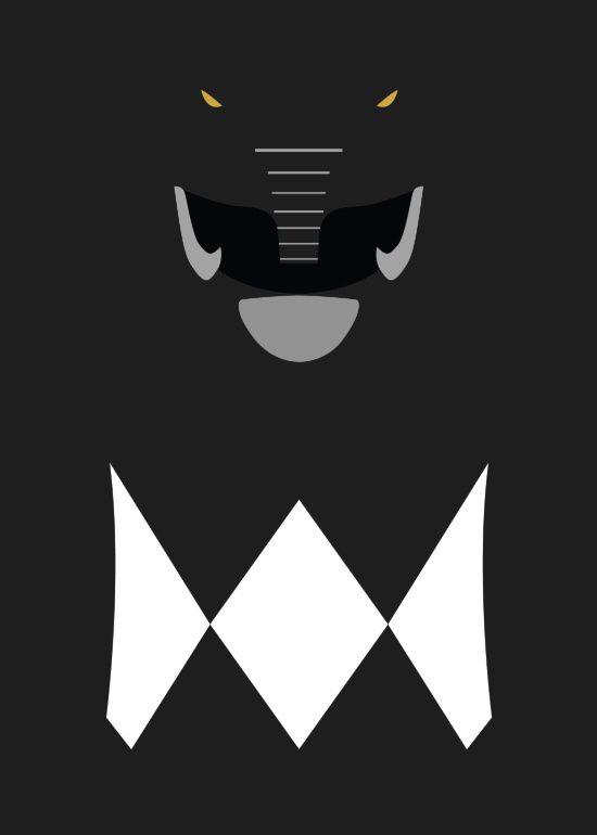 Mighty Morphin Power Rangers Iphone Wallpaper Power Rangers Black Ranger Minimalist Art Print Go