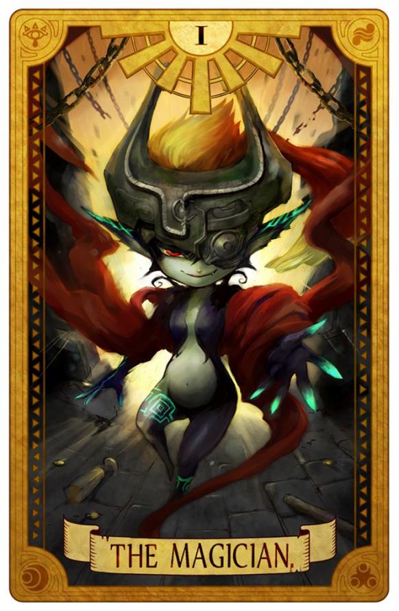 zelda twiligth princess as fortune-telling card #videogames #video #games #fanart