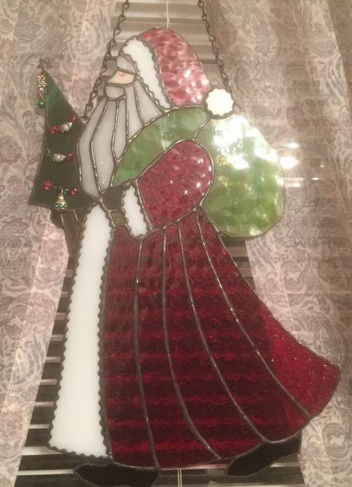 Old santa | stained glass | Pinterest | Glas und Handarbeiten