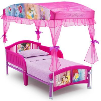Disney Princess Canopy Toddler Bed In Pink Toddler Canopy Bed