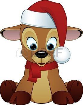 Stock Vector Deer Cartoon Christmas Cartoon Pictures
