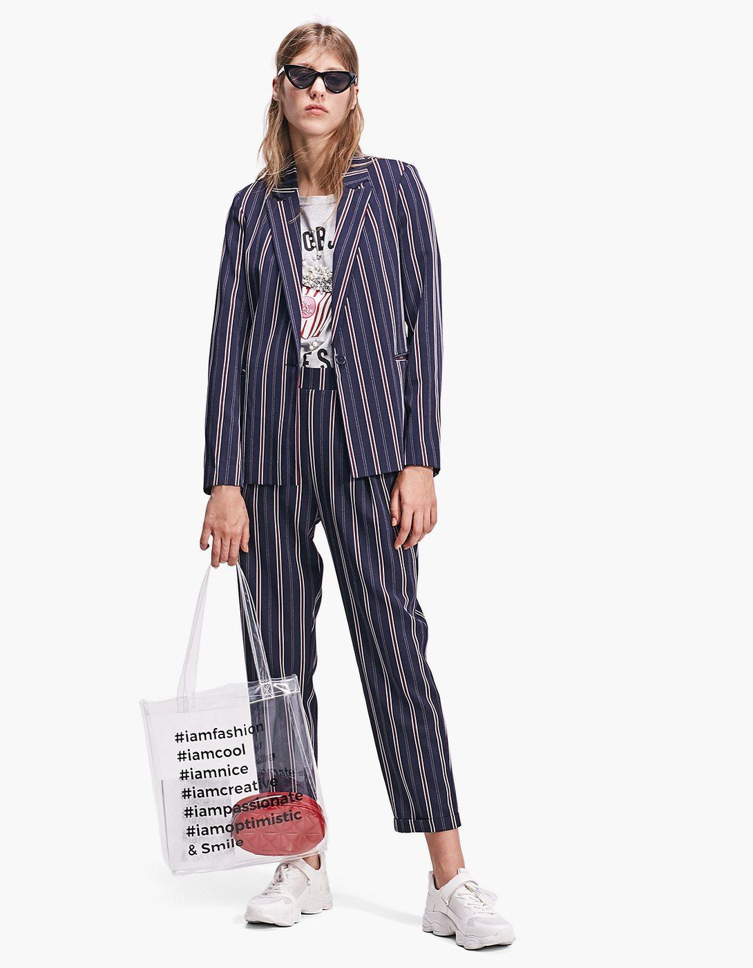 2c192e98 Striped blazer - Total look | Stradivarius Spain | Wishlist 18 ...