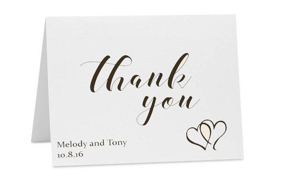 Wedding Thank You Note Cards - Bridal Shower Thank You Cards