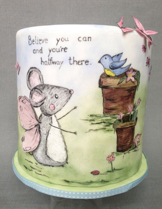 Believe you can...Painted cake art