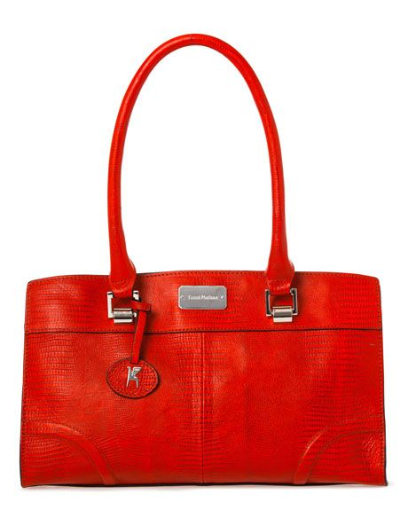 Trent Nathan Southbank Leather Tote In Red Tnb0002 Myer Online Handbags