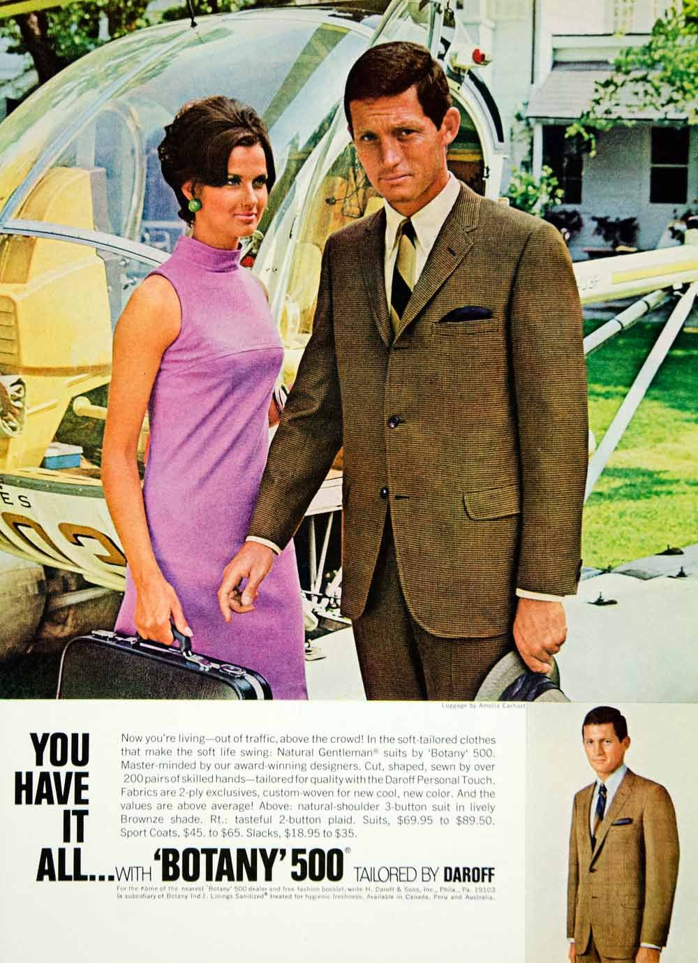 1968 Ad Vintage Botany 500 Business Suit Fashion 60's Style YMMA3