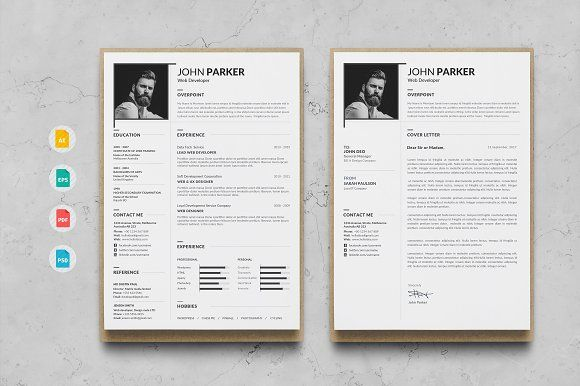 Resume by Create Art on @creativemarket Best Business Card - resume template