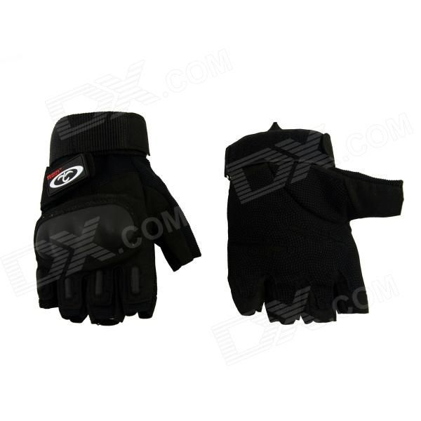OUMILY Outdoor Tactical Half-Finger Gloves - Black (Size M / Pair) Price: $12.69