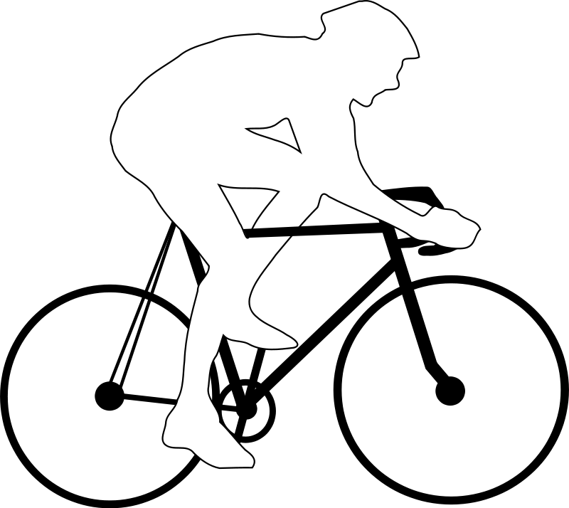 Cyclist Silhouette Free Vector Clipart Best Clipart Best
