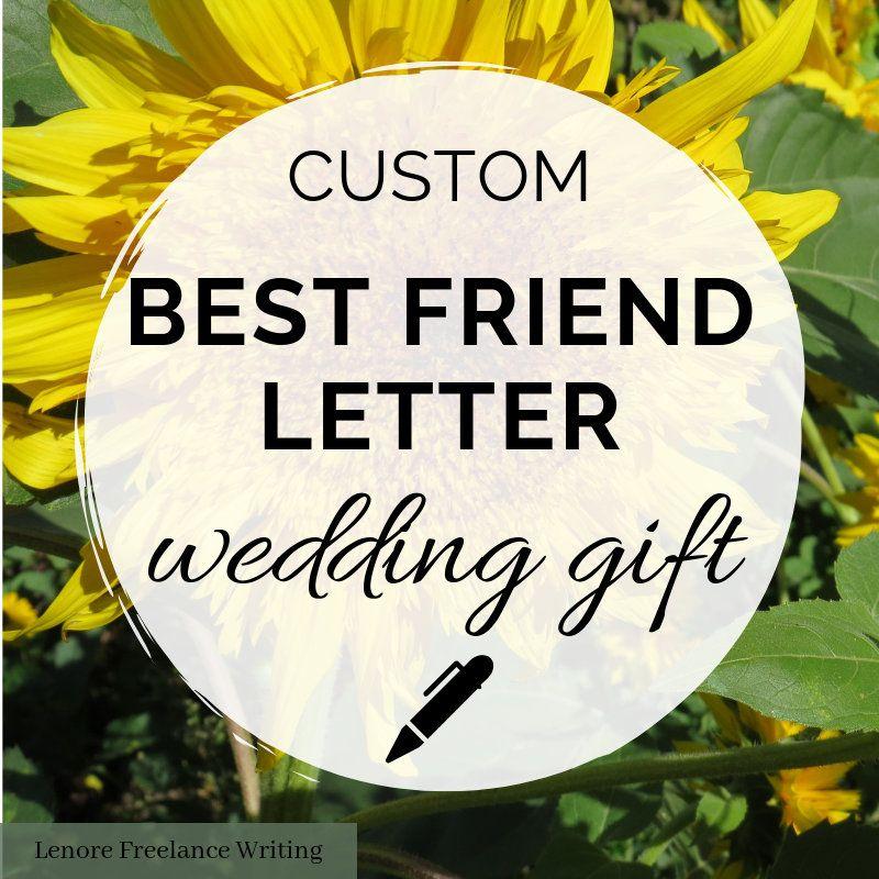 Custom letter for your best friendwedding gift etsy