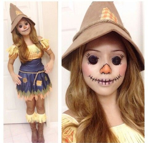 girly/cute scarecrow costume  hallowen  halloween