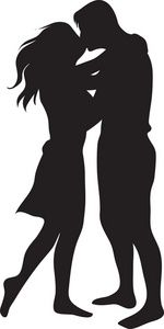Google Image Result For Http Www Computerclipart Com Computer Clipart Images Man And Woman Kissing 0071 09 Man And Woman Silhouette Silhouette Man Silhouette