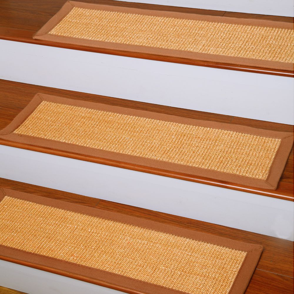 Natural Area Rugs Handcrafted Oscar Natural Fiber Sisal Carpet Stair