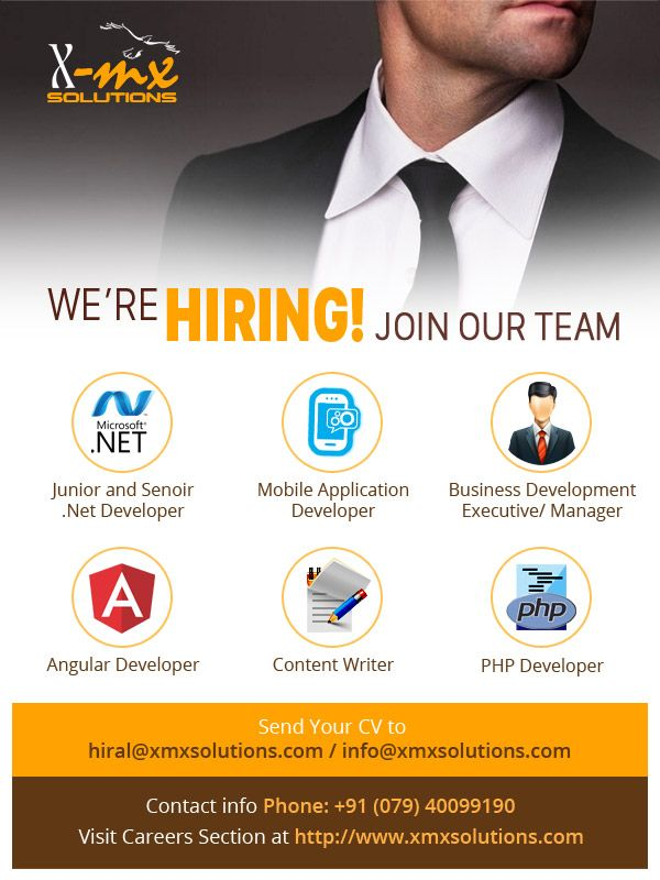 URGENT HIRING at Xmx Solutions Location Ahmedabad Junior and - net developer resume
