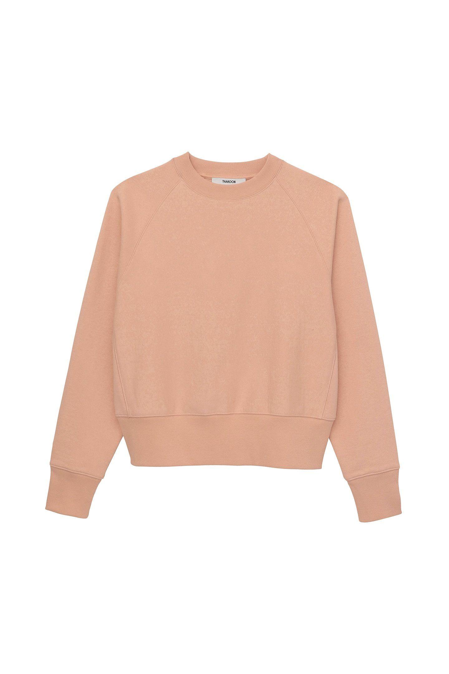 Crewneck Sweatshirt Peach Thakoon Crew Neck Sweatshirt Sweatshirts Chunky Turtleneck Sweater [ 2160 x 1440 Pixel ]