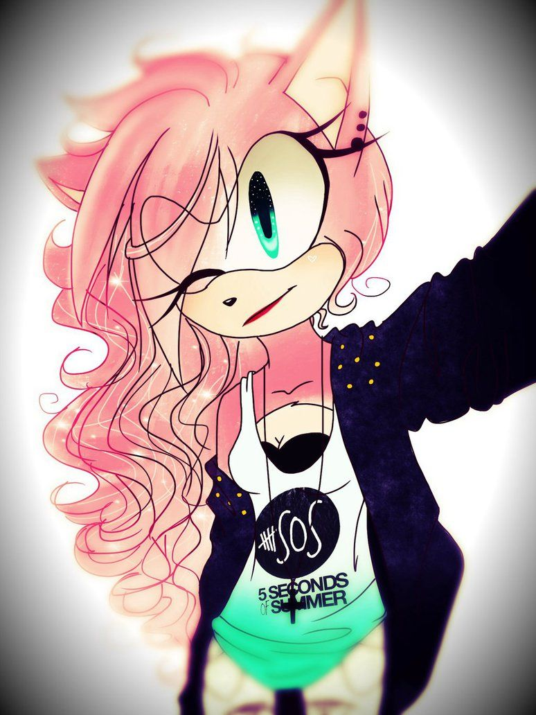 Long Hair I Like Amy Long Hair Version Amy The Hedgehog Shadow And Amy Sonic And Amy