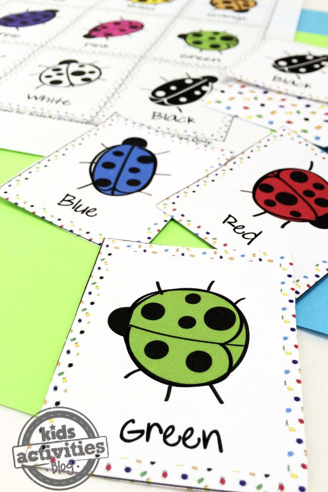 COLOR BUGS MEMORY GAME FREE KIDS PRINTABLE | Crafts for Kids ...