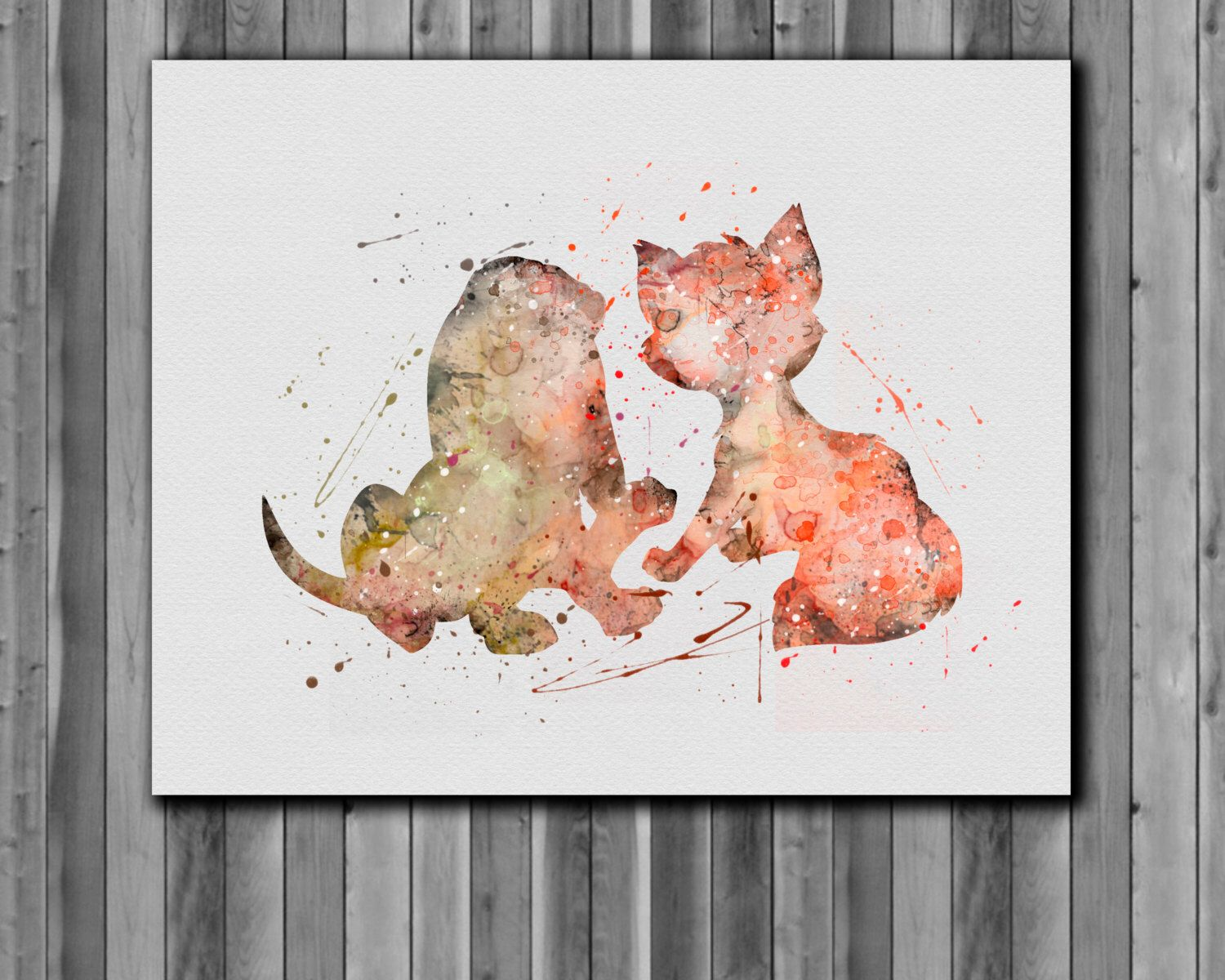 The Fox and the Hound disney poster - Art Print, instant download, Watercolor Print by digitalaquamarine on Etsy https://www.etsy.com/listing/218493795/the-fox-and-the-hound-disney-poster-art