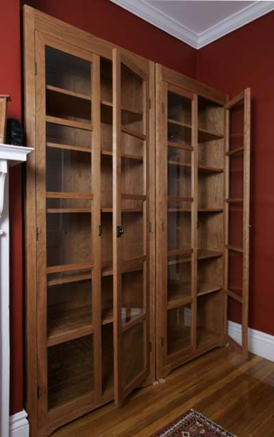bookcases with glass doors mission style bookcase with glass doors built in bookshelves with glass doors