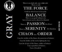 Gray Jedi Star Wars Quotes Grey Jedi Jedi Code