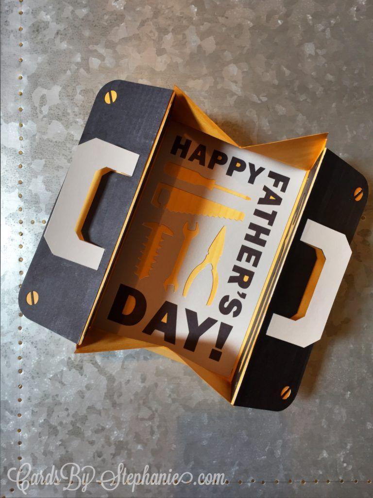 Father S Day Tool Kit Card Tool Box Diy Cricut Cards Tool Kit