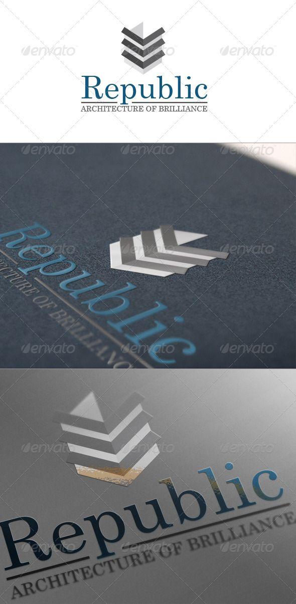 Republic Architecture And Construction Logo Construction Logo Branding Design Logo Logos